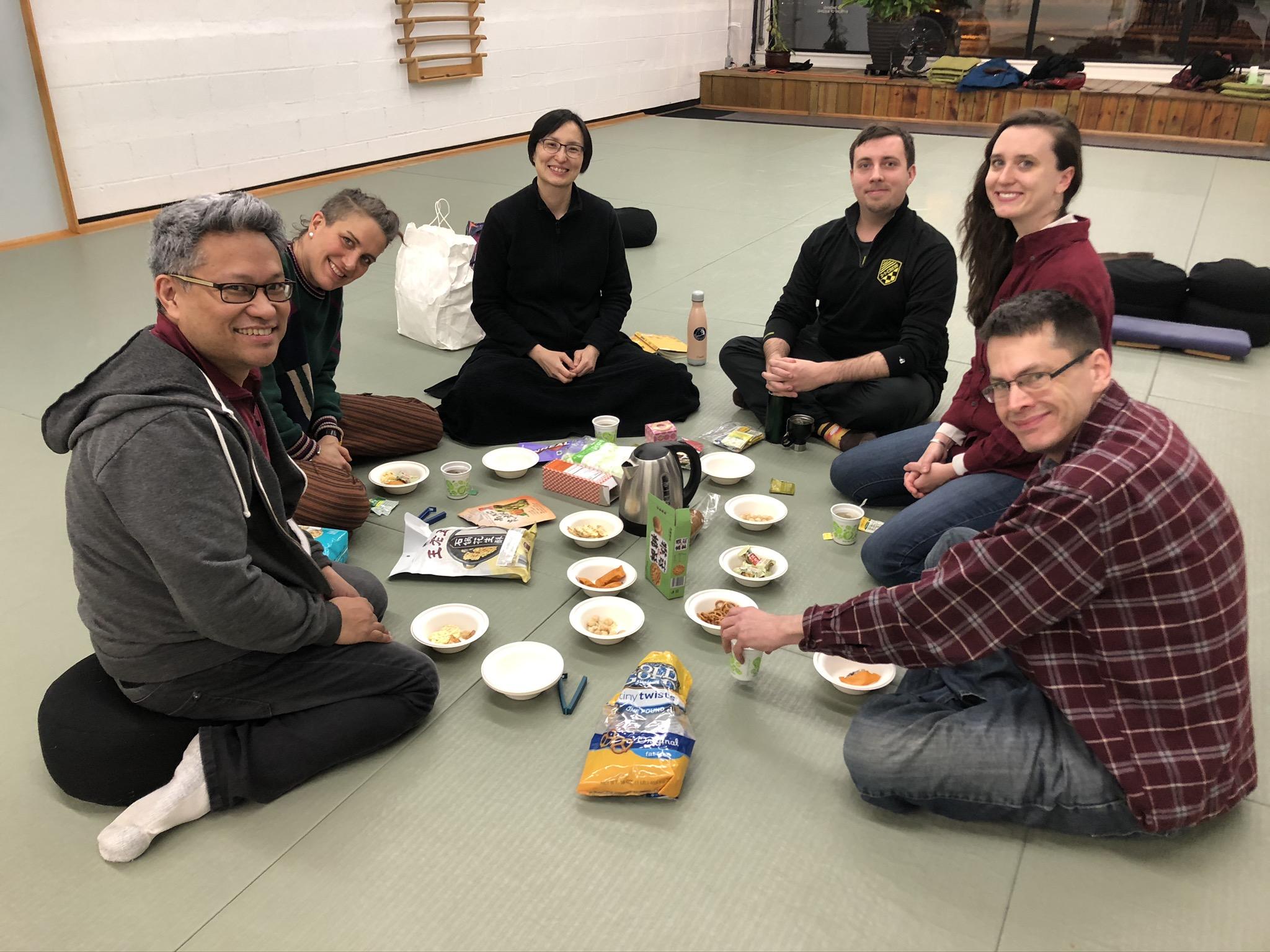 Meditation + Dharma Story + Tea (online)