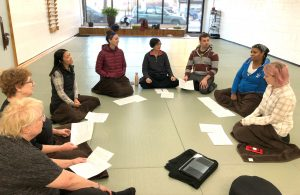 Meditation group at Dharma Sharing session