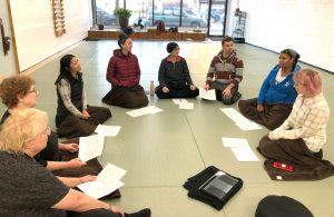 Meditation group at Dharma Sharing session