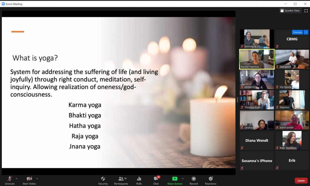 Online Yoga Class with guest teacher Tulasi