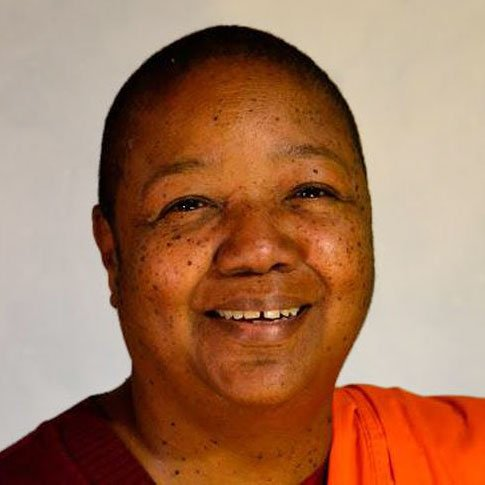 Photo of Ven. Pannavati Bhikkhuni smiling